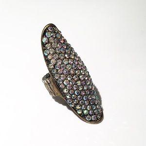 Electric Unicorn Crystal Ring